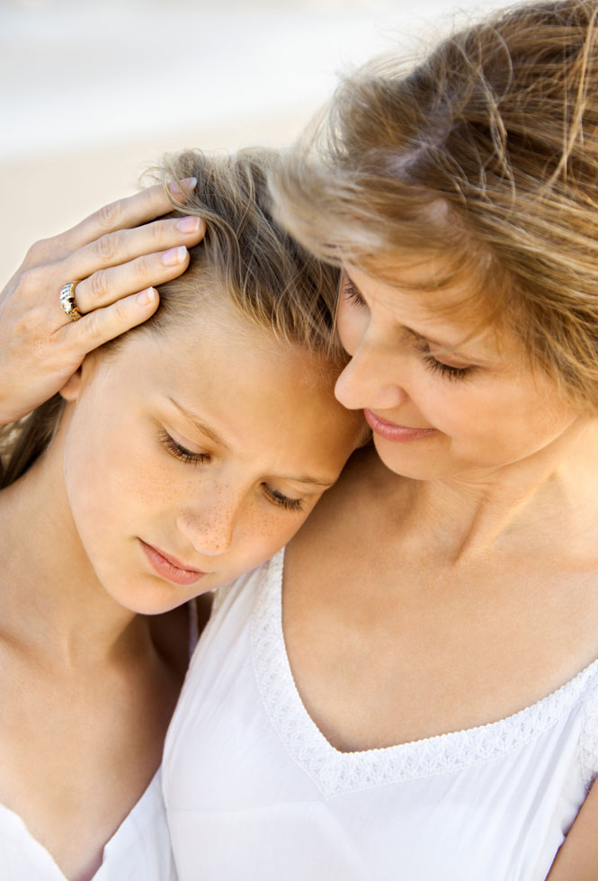 Mother and daughter healing from the effects of addiction.